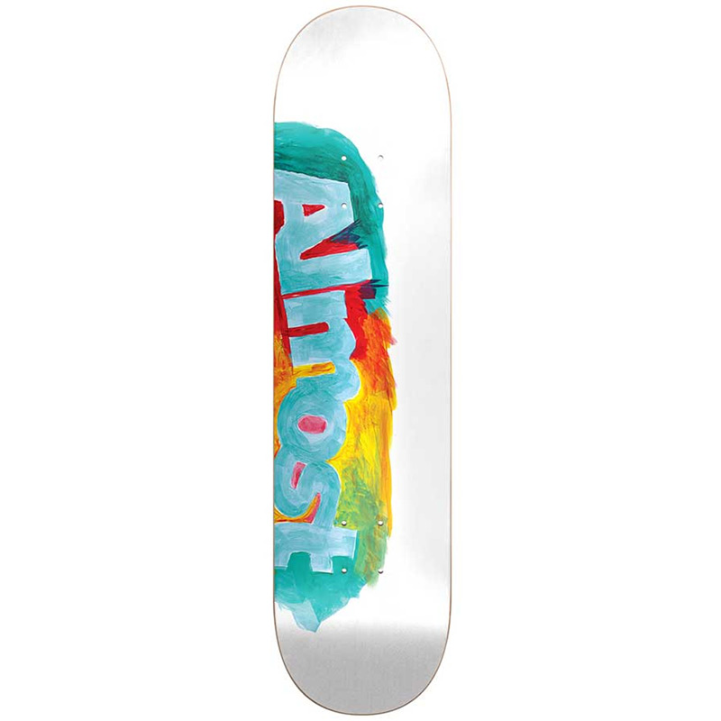 Almost Side Smudge HYB Skateboard Deck White 8.0