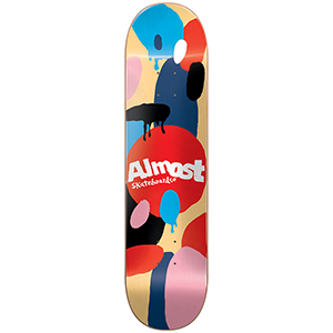 Almost Spotted HYB Skateboard Deck Cream 7.75