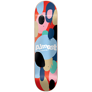 Almost Spotted HYB Skateboard Deck Red 8.0