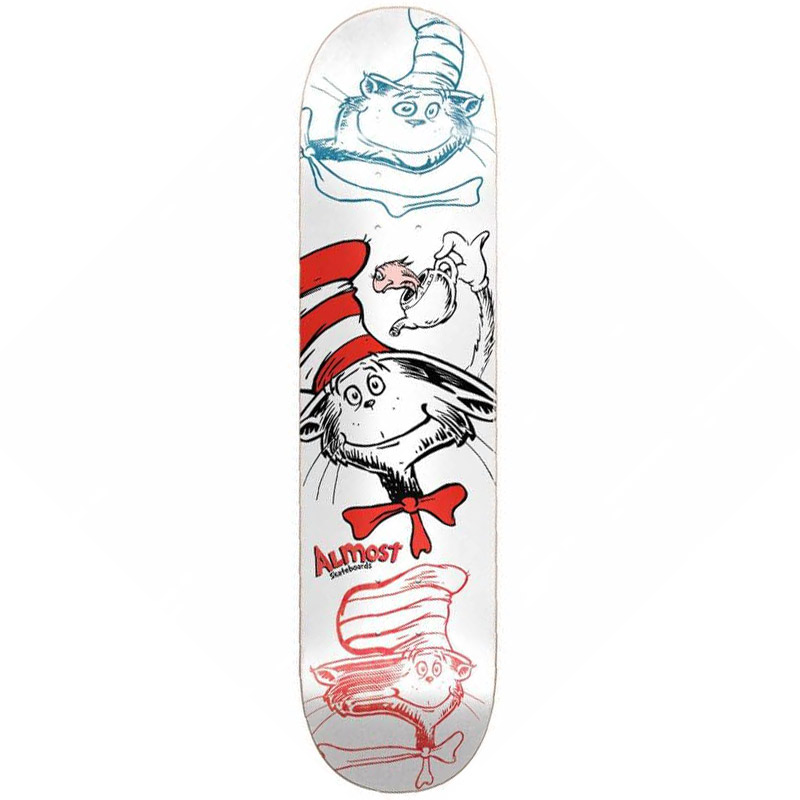 Almost x Dr. Seuss Yuri Cat N Fish R7 Skateboard Deck 8.25