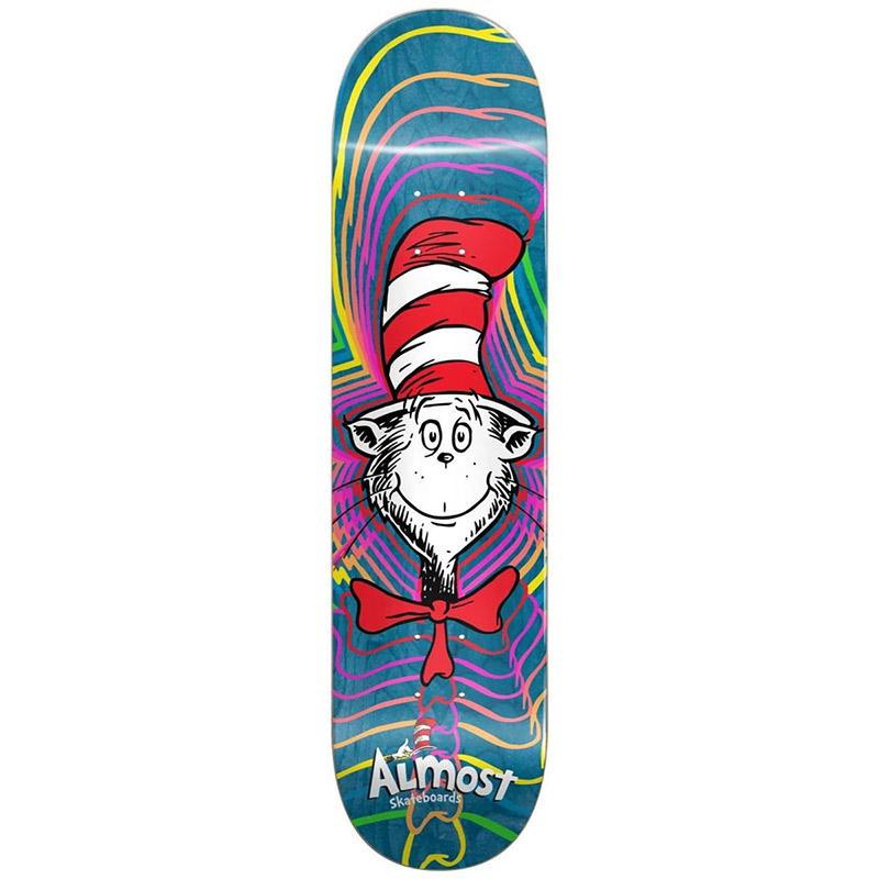 Almost x Dr. Seuss Zoom Cat R7 Skateboard Deck Blue 8.375