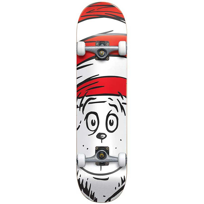 Almost X Dr Seuss Big Face Premium Complete Skateboard White 8.0