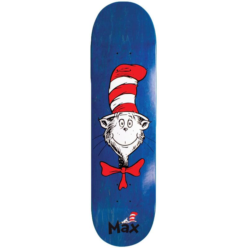 Almost X Dr Seuss Max Cat Face R7 Skateboard Deck 8.25