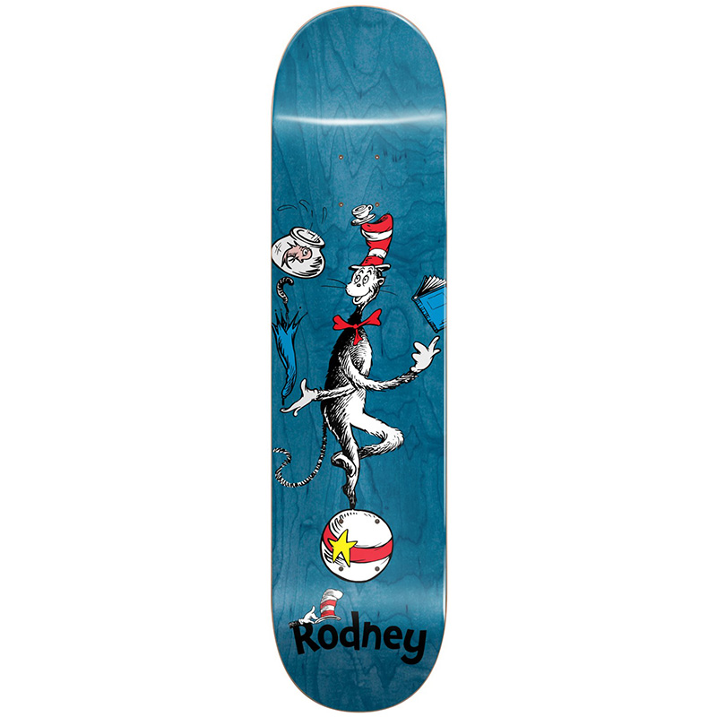 Almost X Dr Seuss Mullen Cat Ball R7 Skateboard Deck 7.875