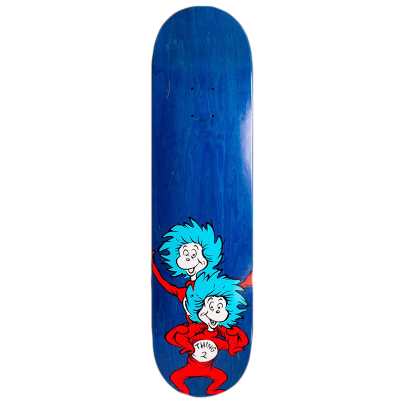 Almost X Dr Seuss Thing Stacked R7 Skateboard Deck White/Blue/Red 8.0