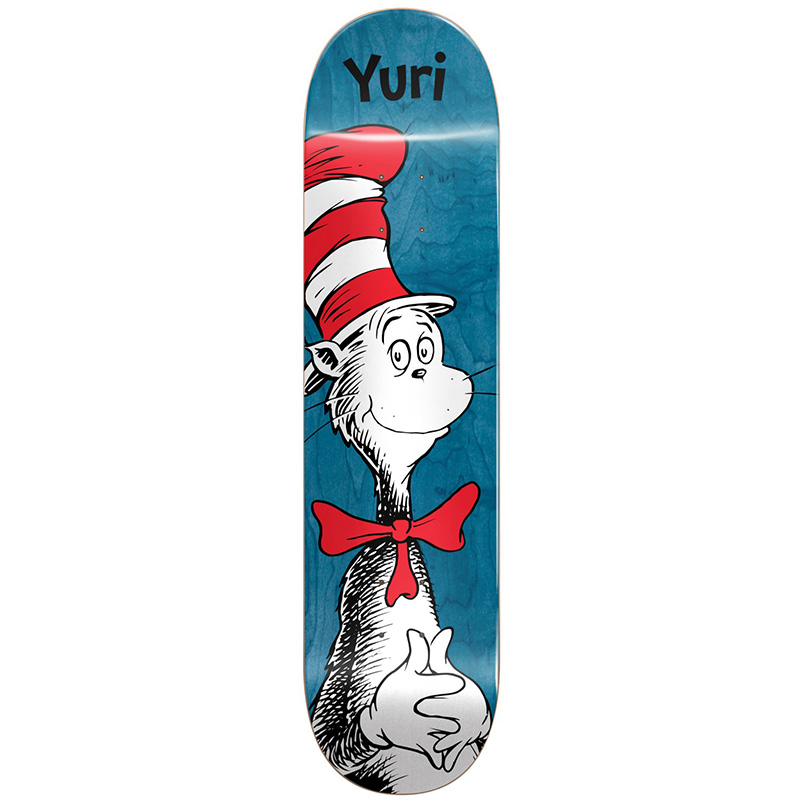 Almost X Dr Seuss Yuri Cat in the Hat R7 Skateboard Deck 8.0