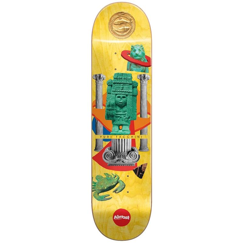 Almost Yuri Relics R7 Skateboard Deck Yellow 8.25