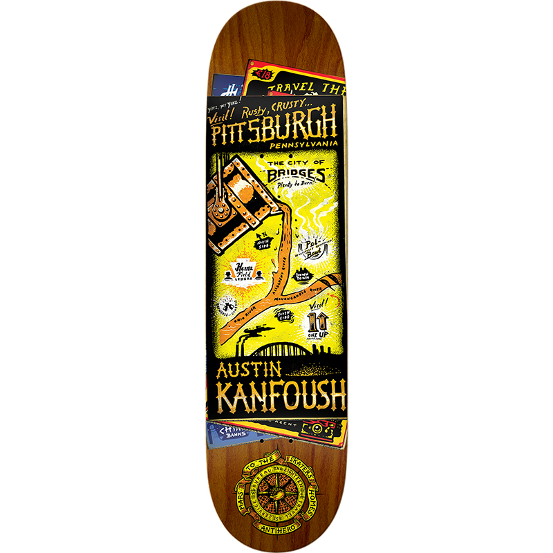 Anti Hero Austin Kanfoush Maps To Skaters Homes 2 Skateboard Deck 8.28