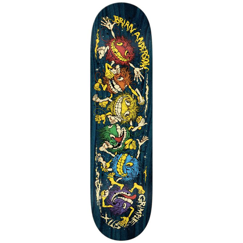 Anti Hero B.A. Grimplestix Guest Skateboard Deck Multi 8.75