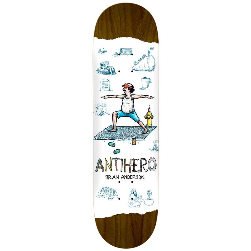 Anti Hero B.A. Recycling Skateboard Deck White 8.5