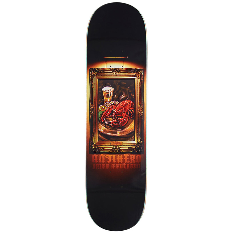 Anti Hero BA Black Velvet Skateboard Deck 8.38