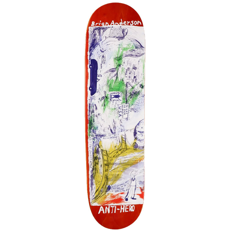 Anti Hero BA SF Then And Now Skateboard Deck 8.5