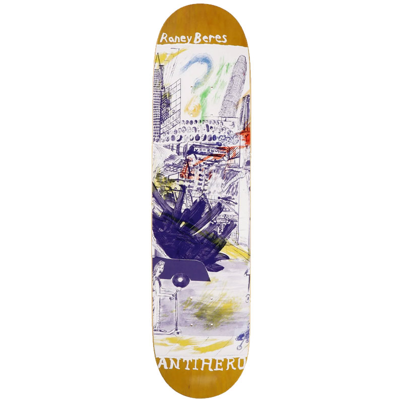 Anti Hero Beres Sf Then And Now Skateboard Deck 8.12