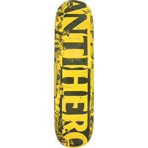 Anti Hero Budget Cuts Skateboard Deck Yellow/Army 7.75