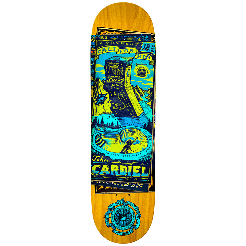 Anti Hero Cardiel Maps To The Skaters Homes Skateboard Deck 8.62