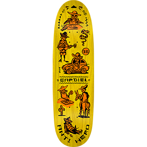 Anti Hero Cardiel Muerte Supremo Skateboard Deck 9.18