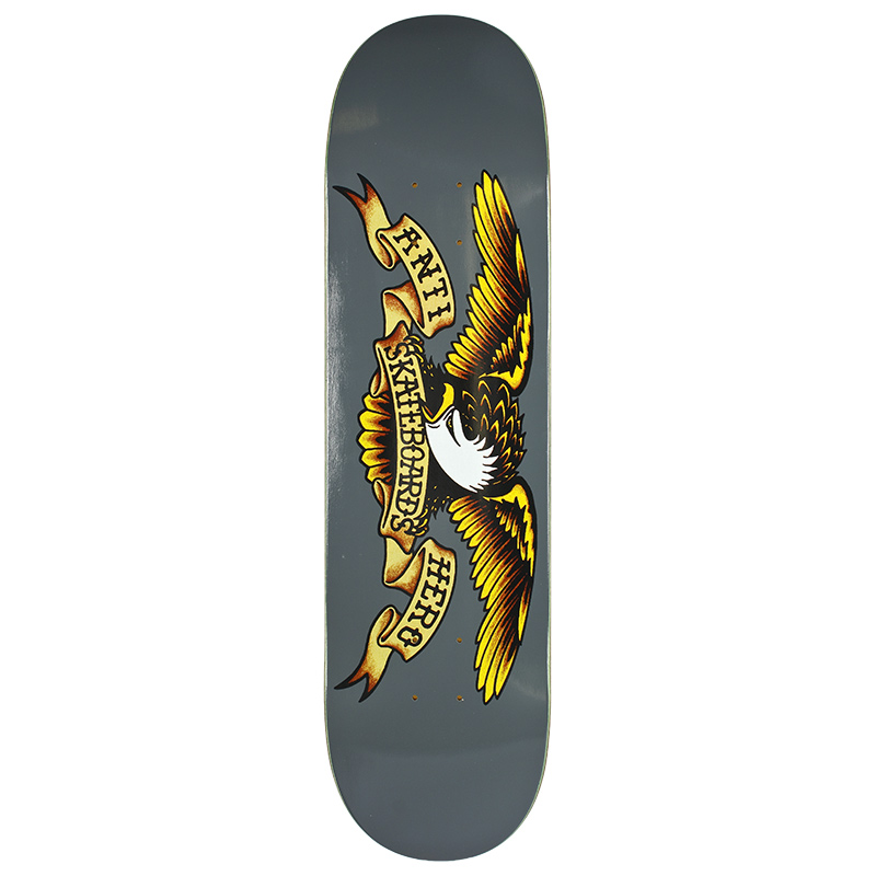 Anti Hero Classic Eagle Skateboard Deck Grey 8.25