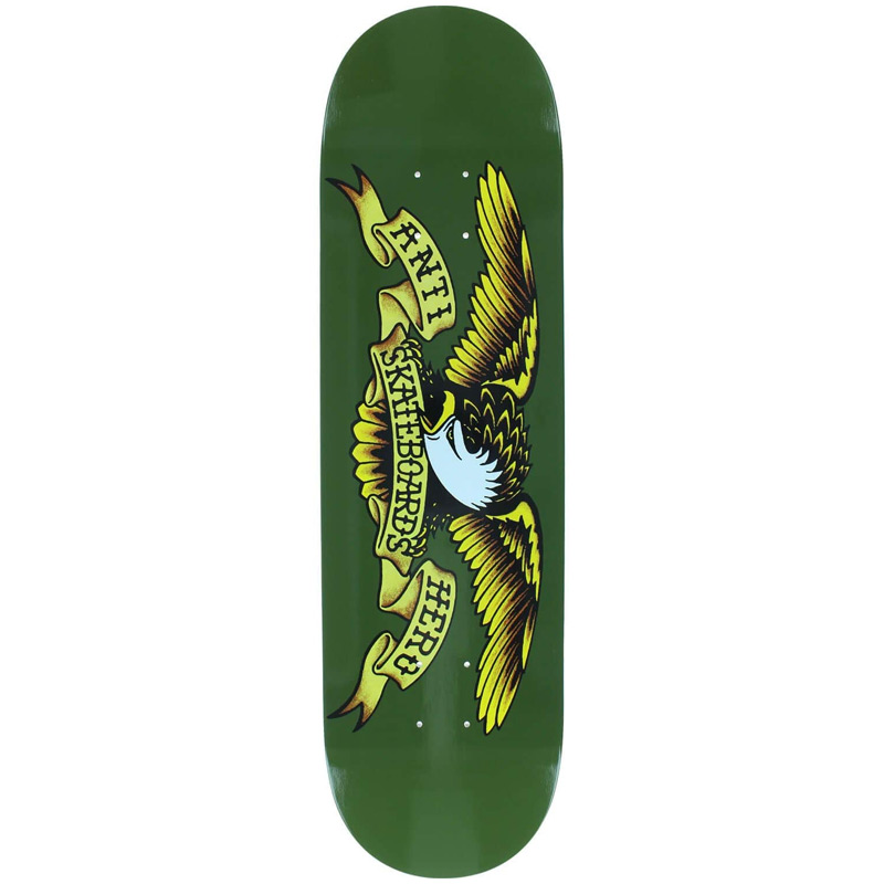 Anti Hero Classic Eagle Skateboard Deck Green 8.38