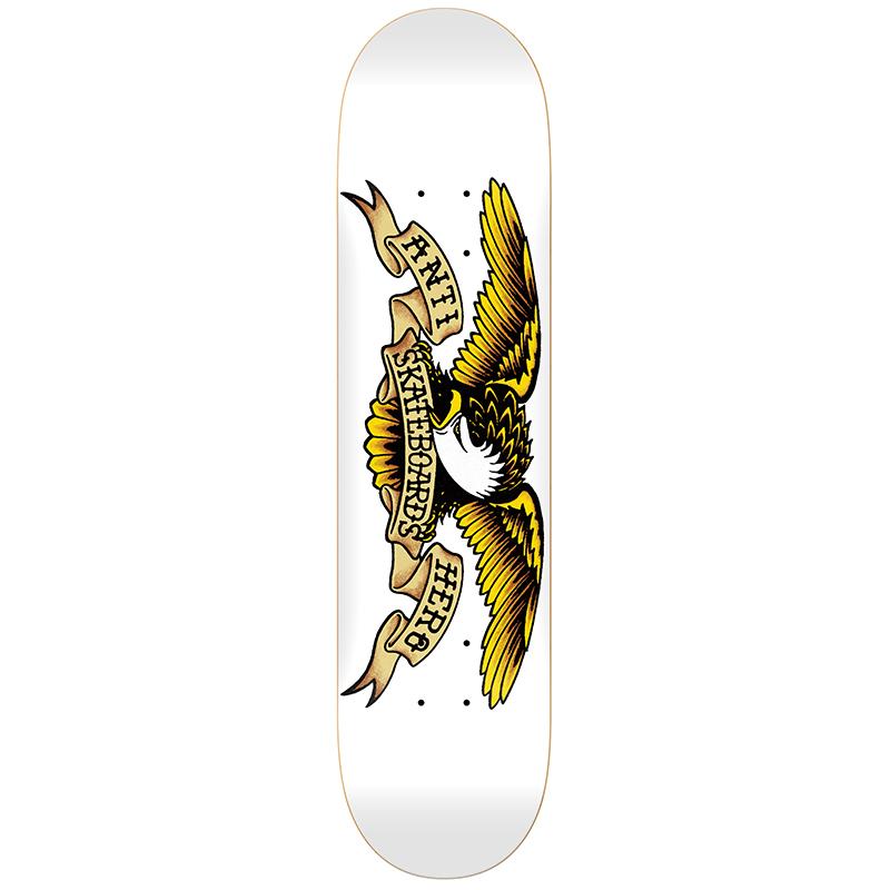 Anti Hero Classic Eagle Skateboard Deck White 8.75