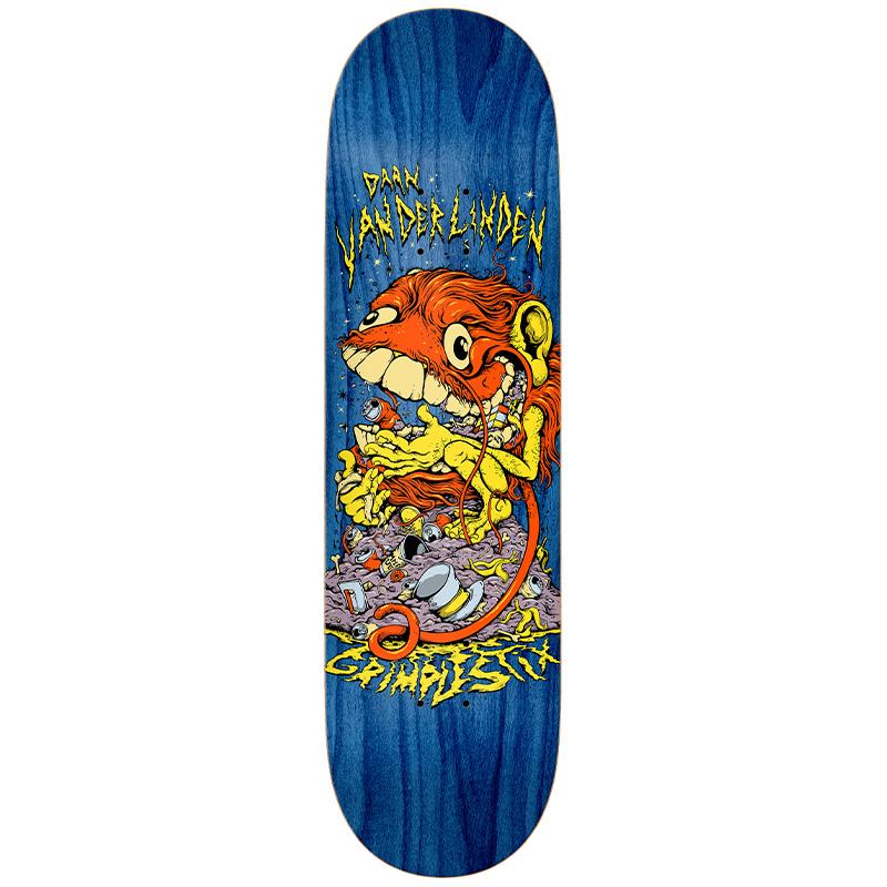 Anti Hero Daan Grimple Guest Skateboard Deck Orange 8.06