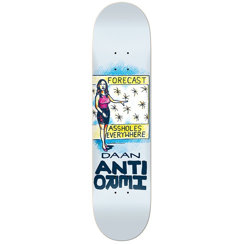 Anti Hero Daan Overcrowding Skateboard Deck 8.38