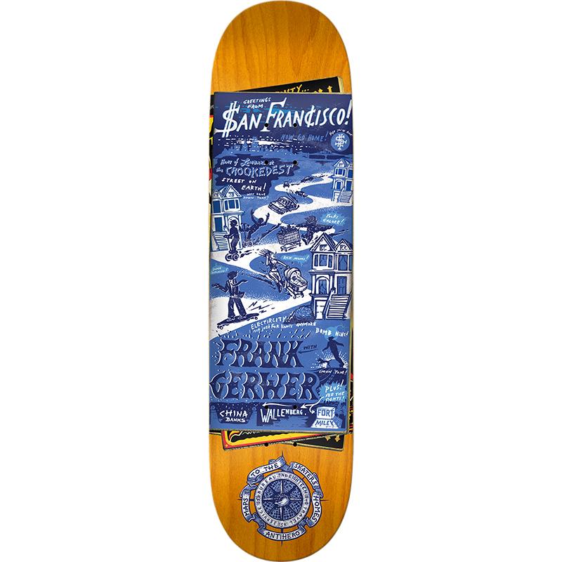Anti Hero Frank Gerwer Maps To Skaters Homes 2 Skateboard Deck 8.38