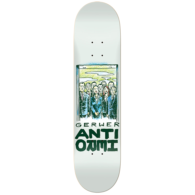 Anti Hero Gerwer Overcrowding Skateboard Deck 8.06