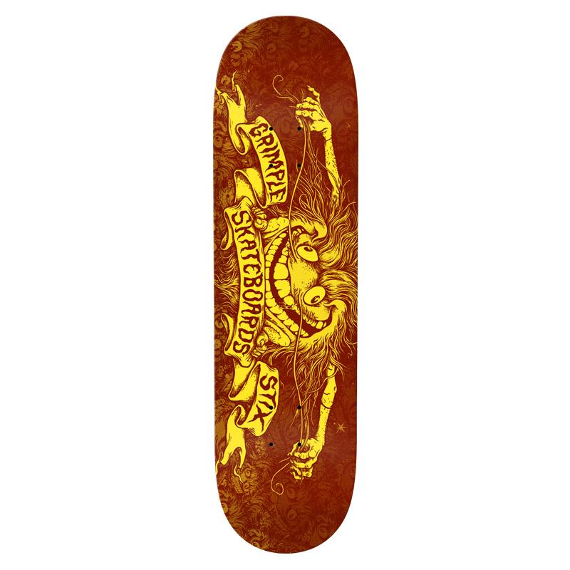 Anti Hero Grimple Pricepoint Skateboard Deck Burgundy 8.25