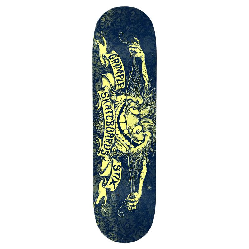Anti Hero Grimple Pricepoint Skateboard Deck Navy 8.5