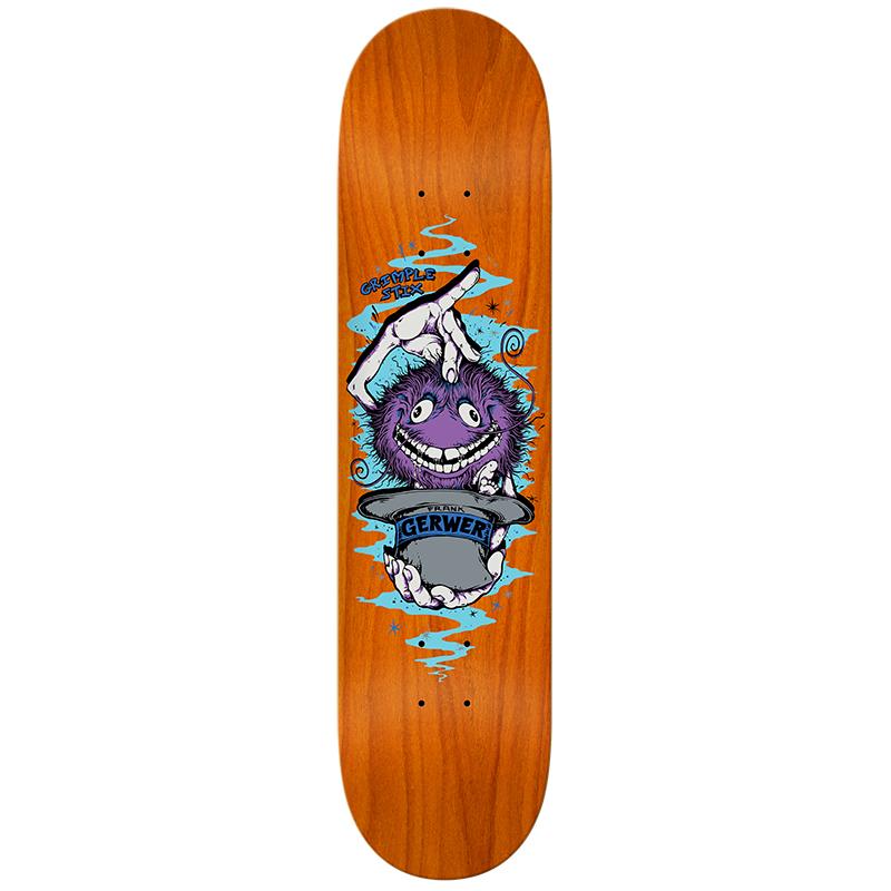 Grimple Stix Gerwer Skateboard Deck Assorted Colours 8.25