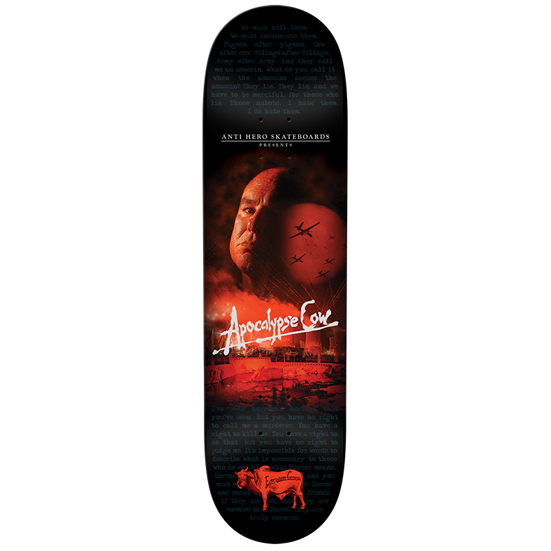 Anti Hero Grosso Apocalypse Cow 8.75 Skateboard Deck 8.75