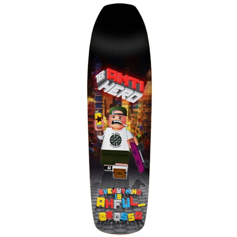 Anti Hero Grosso Everything Is Ahful Skateboard Deck 9.25