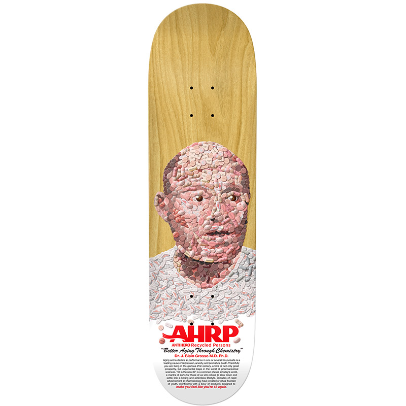 Anti Hero Grosso Pill Head Skateboard Deck 8.5