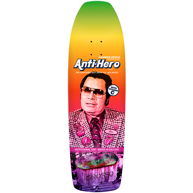 Anti Hero Grosso Pre-Sweetened Rainbow Skateboard Deck 10.1