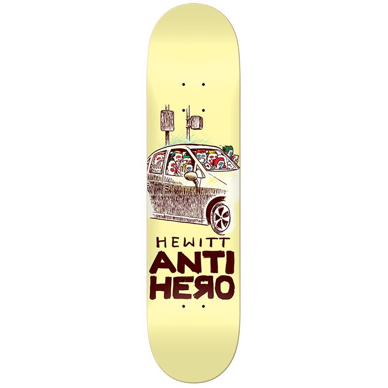 Anti Hero Hewitt Overcrowding Skateboard Deck 8.28