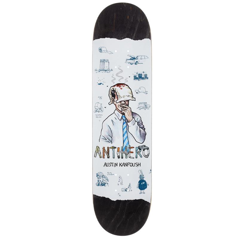 Anti Hero Kanfoush Recycling Skateboard Deck White 8.06