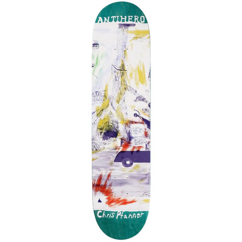 Anti Hero Pfanner Sf Then And Now Skateboard Deck 8.06