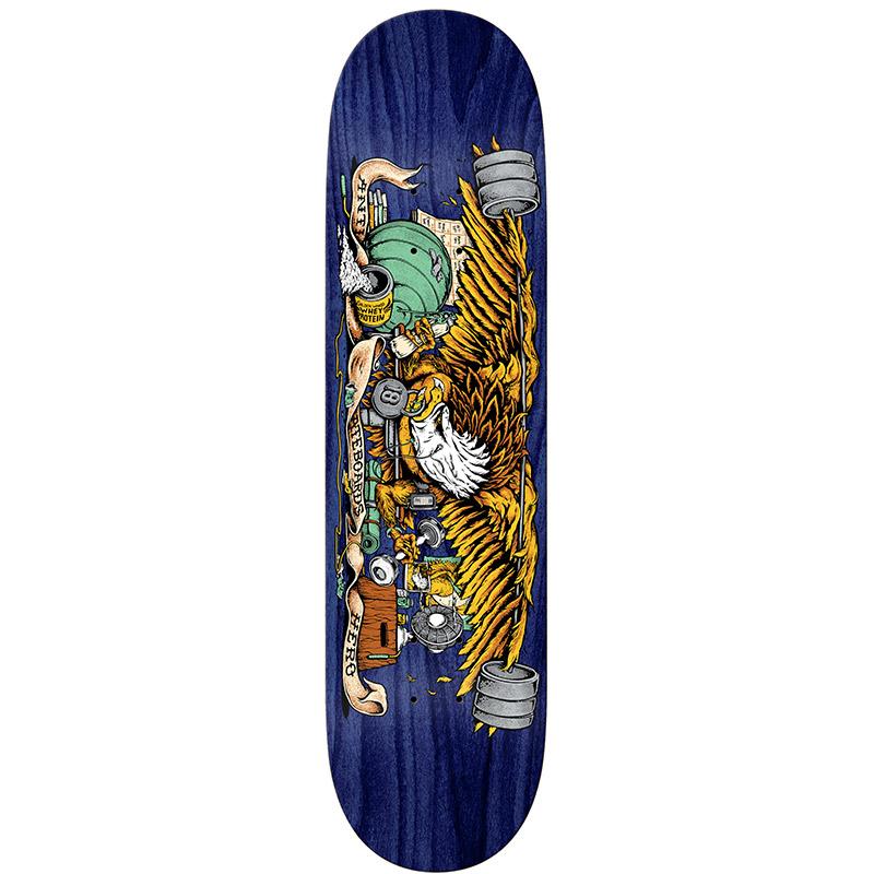 Anti Hero Pumping Feathers Skateboard Deck 8.28