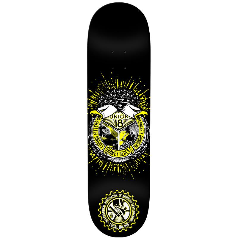 Anti Hero Raney Local 18 Union Skateboard Deck Black 8.75