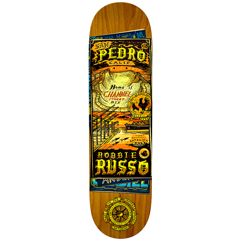 Anti Hero Russo Maps To The Skaters Homes Skateboard Deck 8.25