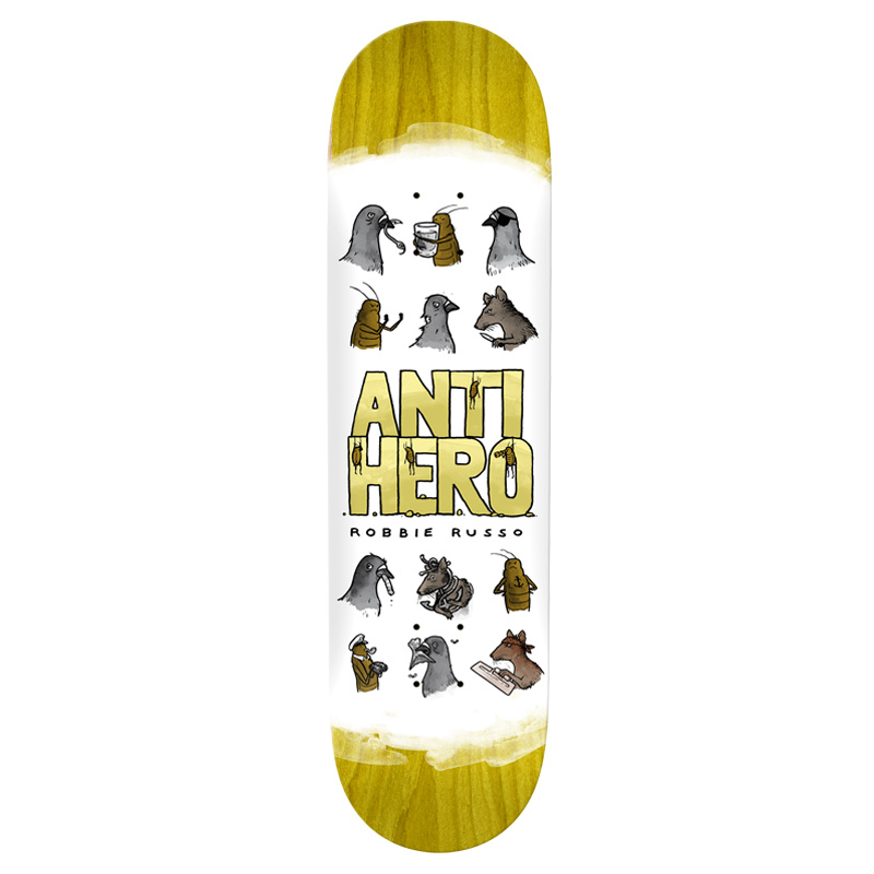 Anti Hero Russo Usual Suspects Skateboard Deck White 8.25