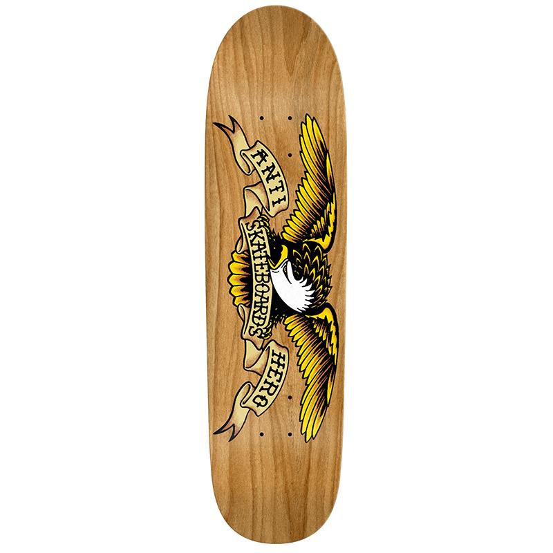 Anti Hero Shaped Eagle Au Natural Skateboard Deck 8.35