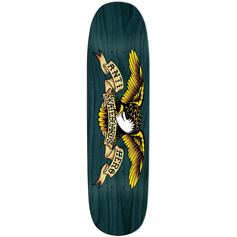 Anti Hero Shaped Eagle Blue Meanie Skateboard Deck 8.75