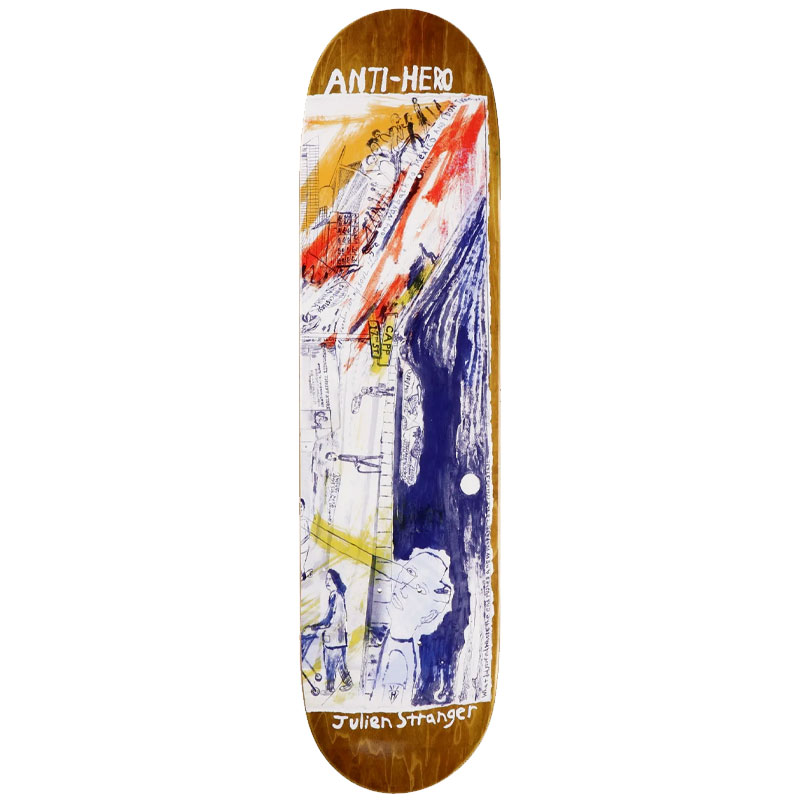 Anti Hero Stranger Sf Then And Now Skateboard Deck 8.4