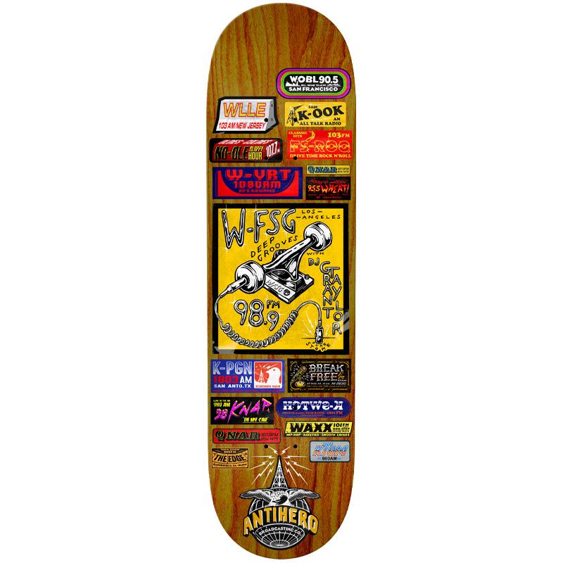 Anti Hero Taylor Broadcasting Skateboard Deck Multi 8.25
