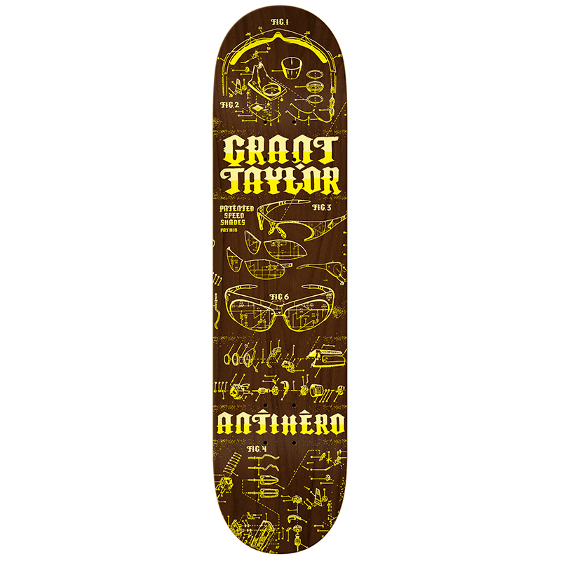 Anti Hero Taylor Speed Shades Skateboard Deck 8.28