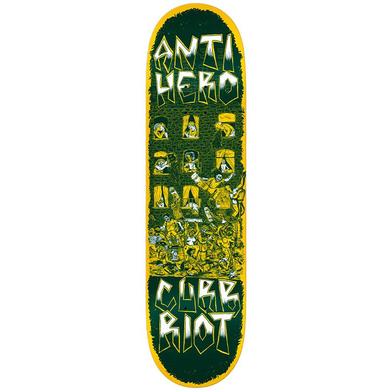 Anti Hero Team Curb Riot Redux Skateboard Deck 8.12