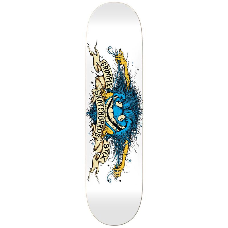 Anti Hero Team Grimple Stix Collab Skateboard Deck White 8.75