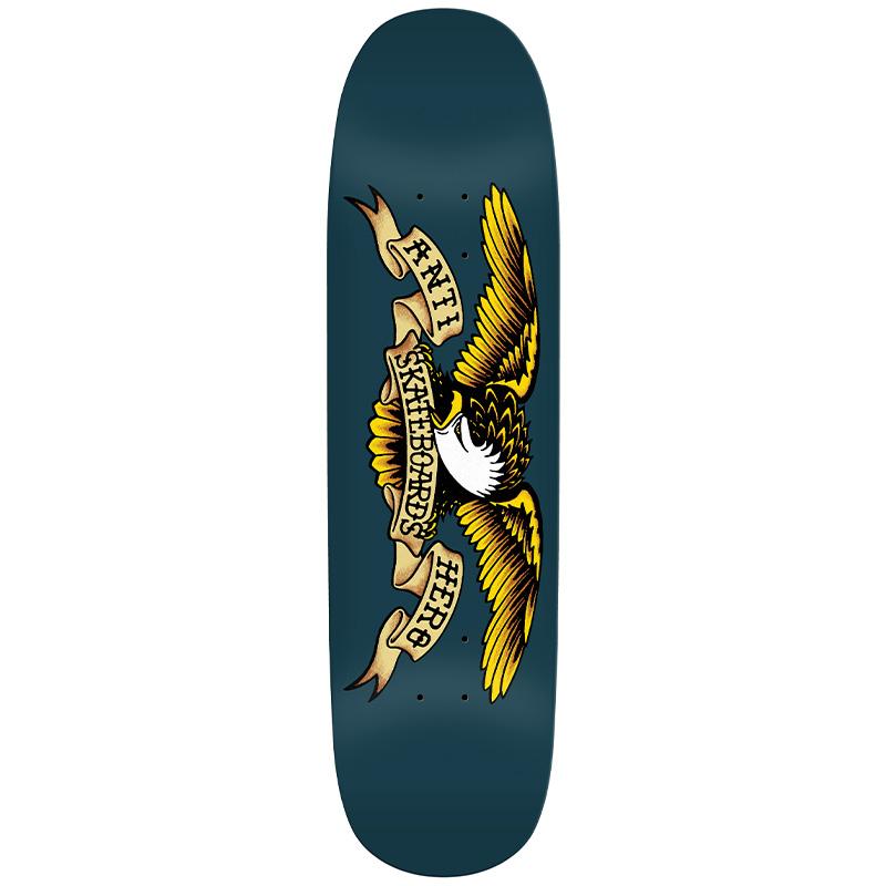 Anti Hero Team Shaped Eagle - Blue Meanie Skateboard Deck Navy 8.75
