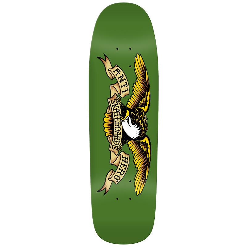 Anti Hero Team Shaped Eagle - Green Giant Skateboard Deck Green 9.56